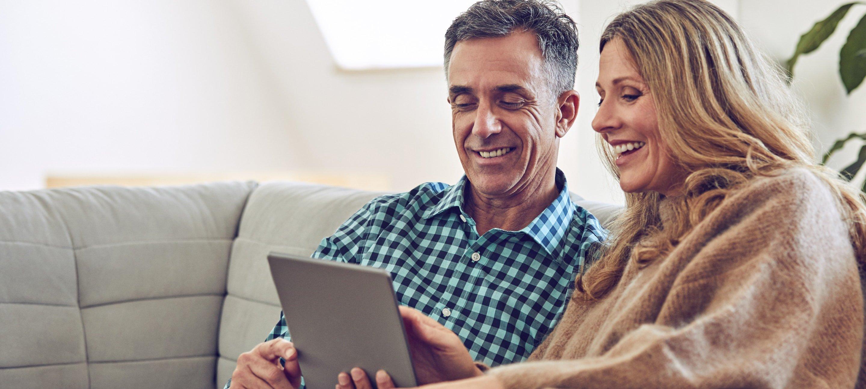 Couple Using iPad