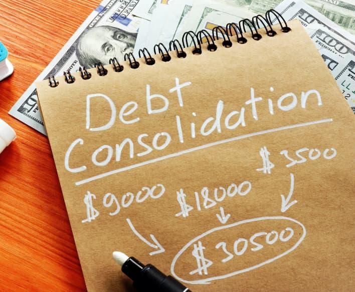 debt-consolidation-notepad